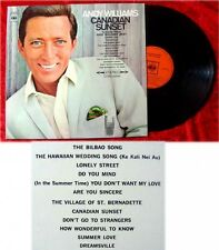 LP Andy Williams Canadian Sunset