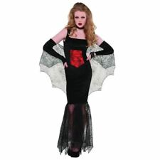 Womens Black Widow Seductress Halloween Costume Fancy Dress Adult Size 8-10