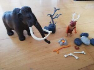 Playmobil History Neandertaler mit Mammut u. Zubehör Steinzeit
