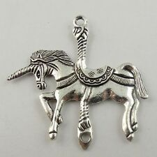 Tibetan Silver Tone Horse Unicorn  carousel Charm Pendant connector fr20