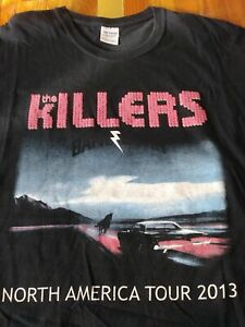 THE KILLERS Tour T-Shirt 2013 Battle Born Rare Style Group on Back XL