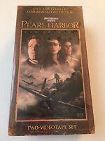 Pearl Harbor VHS Movie 60th Anniversary Affleck Drama 2-Tape Set 2001