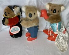 Lot Of 3 Vintage Bear Buddies Koala Bear Huggers 13� Collectible Dolls
