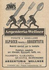 Z2017 Argenteria Wellner - Posate e Vasellame - Pubblicità d'epoca - Advertising