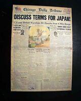 POTSDAM CONFERENCE Germany Stalin Truman Churchill 1945 World War II Newspaper