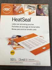 """GBC HeatSeal Letter-Size Laminating Pouches, 50 pack, 3 mil, 9x11 1/2"""""""