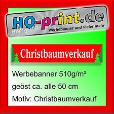 €16,11/m² Werbebanner 300x60cm Christbaumverkauf Werbeplane Digitaldruck geöst