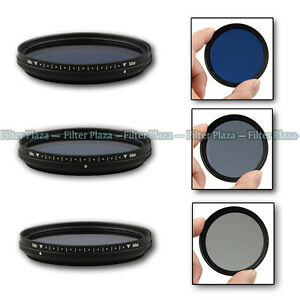Fotga 72mm Slim Adjustable Variable Color Conversion Fader ND Blue Lens Filter