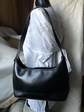 Longchamp Handbag Size Medium Black Solid Leather Shoulder Bag Purse LUXE SEXY!!