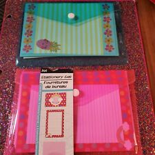 💜 Stationary Set Pink And Blue Lot 2