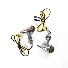 2pcs Chrome Motorcycle LED Bullet Turn Signal Indicator Light Lamp Dirt bike ATV