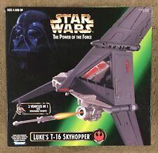 1996 Star Wars Kenner Power Of The Force Luke's T-16 Skyhopper NIB