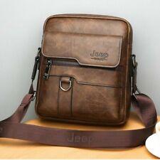 Men Messenger Bags Crossbody Business Casual Spliter Leather Shoulder Bag Large