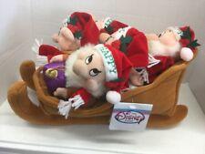 Disney Store / Parks Snow White Seven Dwarfs Christmas Sleigh Bean Bag Set New