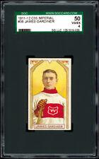 1911-12 C55 Imperial Tobacco #36 James Gardiner SGC 50+