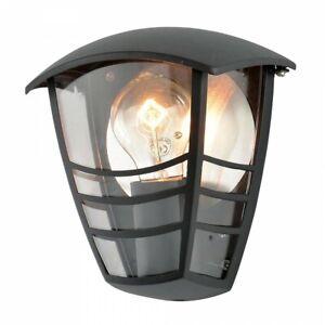Modern Outdoor Die Cast Half Wall Lantern Light Black Clearance Litecraft