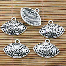 10pcs Tibetan silver oval shape football design charms EF1635