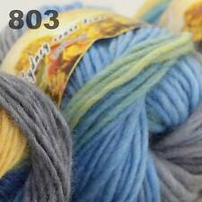 LOT of 3x50gr Skeins NEW Chunky Hand-woven Colors Knitting Scores wool yarn 803