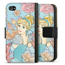 Apple iPhone 4 Tasche Hülle Flip Case - Cinderella royal floral