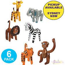 JUNGLE SAFARI PARTY 6 INFLATABLE ZOO ANIMALS MONKEY TIGER GIRAFFE LION ELEPHANT