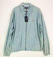 Polo Ralph Lauren Chambray Sky Blue Field Bayport Jacket Over Shirt 2XL XXL £175