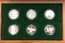 $10 birds of Australia silver coins 1989-1994 proof set in display box no cert