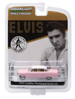 Greenlight 1/64 scale diecast car Elvis 1955 Pink Cadillac fleetwood
