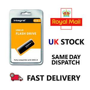Integral 512GB USB3.0 MEMORY FLASH DRIVE (MEMORY STICK) BLACK INTEGRAL