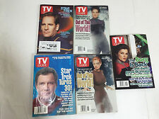 STAR TREK TV Guide Television Magazines from 1996-1997-2002 Lot of 5 Book