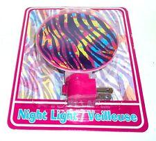 Striped Print Pattern Night Light Includes Bulb Nip #0123a