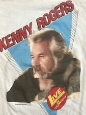 New listing Vintage Kenny Rogers The 85 Tour T-Shirt Size Large•White•Hanes•1 985•Original•
