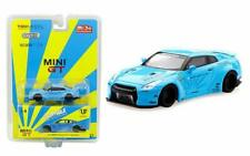 TSM MINI GT 1:64 MIJO LIBERTY WALK WORKS NISSAN GT-R R35 BLUE MGT00004-MJ