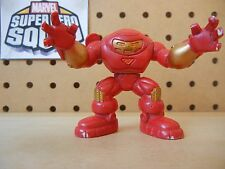 Marvel Super Hero Squad HULKBUSTER IRON MAN Red Gold of Hall of Armor Play Wear