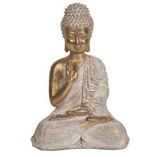 Seated Gold Effect Buddha Figurine 23cm