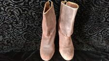 Midas womans dark brown leather mid boots, size 10, 41/2 inch cone heels padding