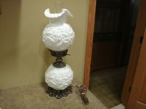 FENTON POPPY GONE WITH THE WIND LAMP