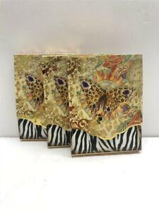 3 Punch Studio Mini Pocket Note Pads 59666 Zebra Butterflies, Discontinued!