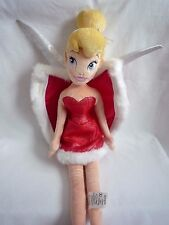 """OFFICIAL LARGE DISNEY TINKERBELL SOFT TOY  IN RED OUTFIT WITH CAPE  21"""""""