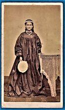 vintage cdv photo Hellen Bambridge Tahiti vahine Gauguin Polynesie c 1868 ethnic