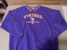 VINTAGE NFL MINNESOTA VIKINGS LONG SLEEVE SWEATSHIRT ,XL SIZE,SEWN LOGO,PURPLE