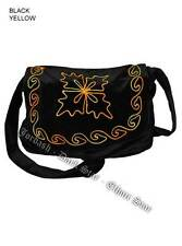JORDASH DARK STAR BLACK YELLOW SOFT FINE VELVET/VELOUR EMBROIDERED BAG