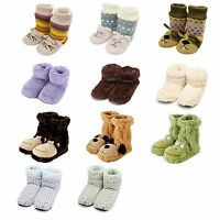 Cozy Plush Anti Slip Slippers Ladies Womens Winter Warmer