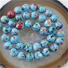 "6mm Blue Multicolor Turquoise Gem Round Loose Bead 15""AAA ##EE011"