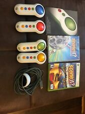 2 SCENE IT XBOX 360 Movie Trivia Game w/ 4 Wireless Controllers Buzzers Adapter