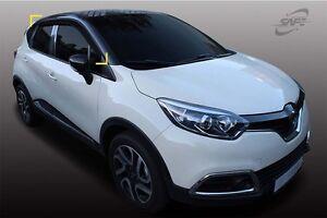 Smoke Window Visors Weather Shields 4pcs for 09/2014 ~ 2019 Renault Captur