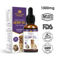 Organic Natural Hemp Seed Oil For Dogs Cats Pets 30ml - 100% Natural Supplement