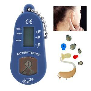 Universal Digital Hearing Aids Battery Checker Tester LCD Screen Zinc Air Button