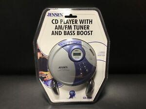 New In Box -  Jensen CD Player + AM/FM Tuner & Bass Boost + Headphones (CD-55AF)