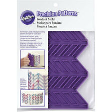Wilton Purple Silicone Herringbone Precision Patterns Fondant Sugarpaste Mold