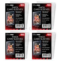 400 Ultra PRO THICK Card Sleeves 130pt Standard Size Soft Protectors 4 x 100ct